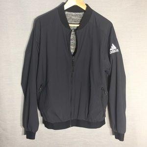 Adidas reversible black/grey mesh bomber jacket